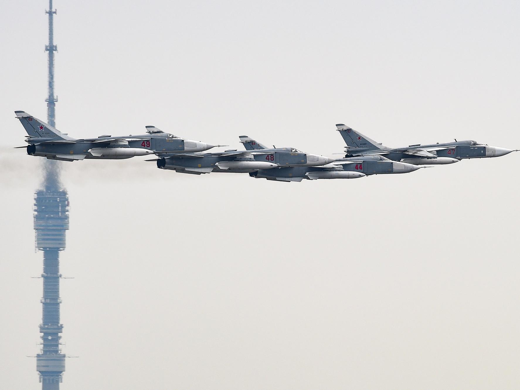 Воздушная феерия: репетиция авиационной части Парада Победы в Москве