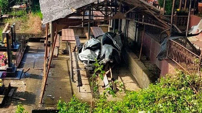 Есть жертвы: на кладбище в Сочи произошло смертельное ДТП