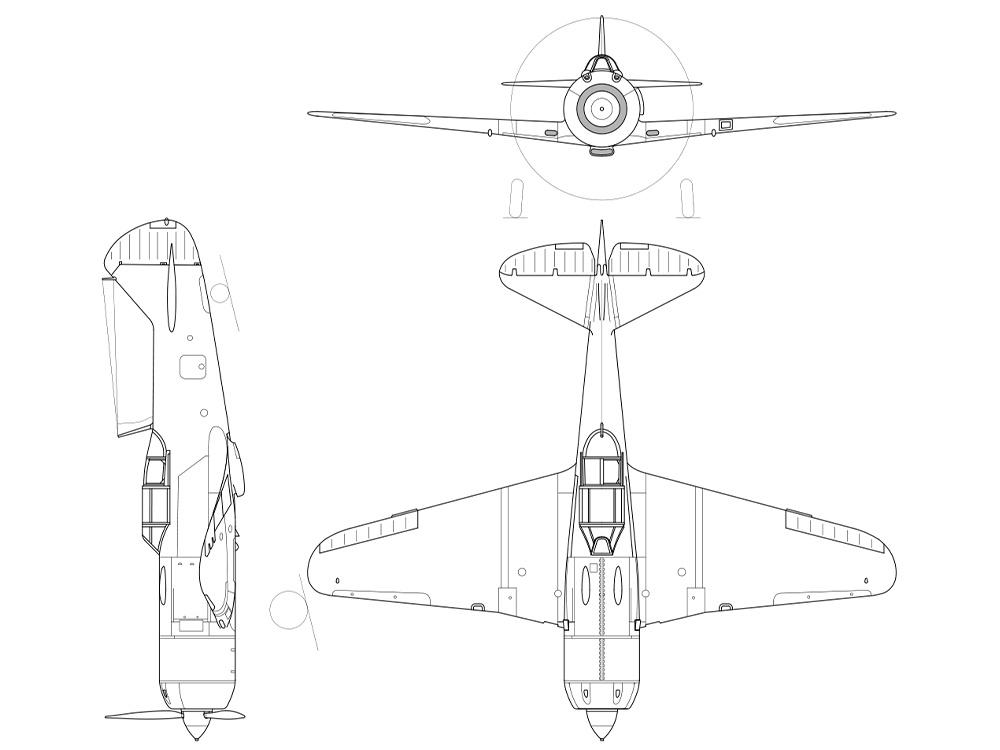 Схема Ла-7<figcaption class=