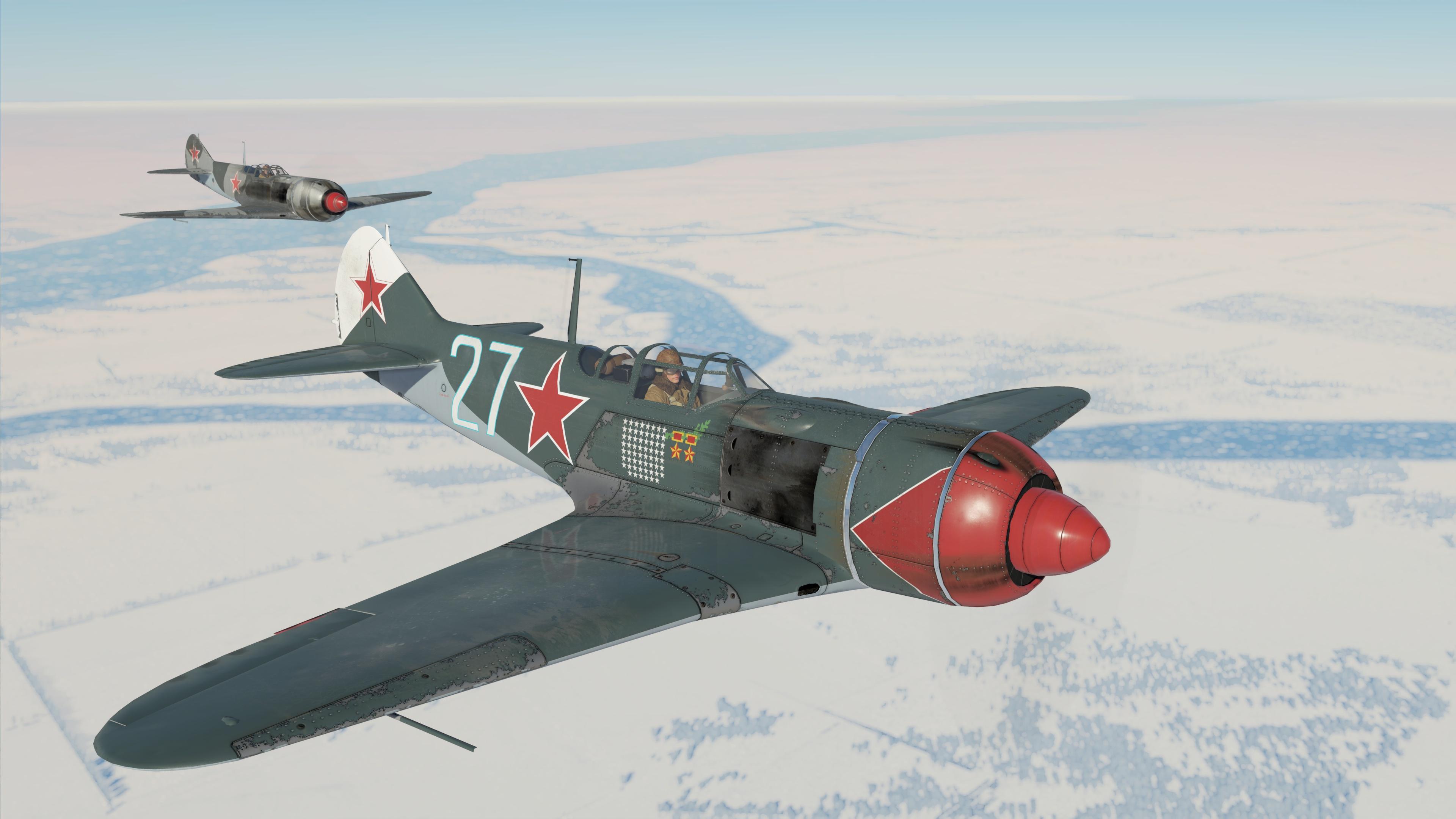 Ла-7 Ивана Никитовича Кожедуба, 176-гиап, skin by PurpleMamba<figcaption class=