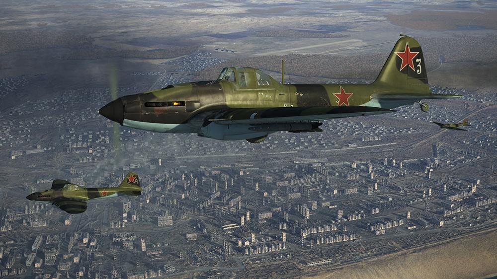 Штурмовик Ил-2 с реактивными снарядами во время Великой Отечественной войны. Данные варианты текстур, воссоздающие исторические окраски самолетов, выполнены Максимом Брянским.