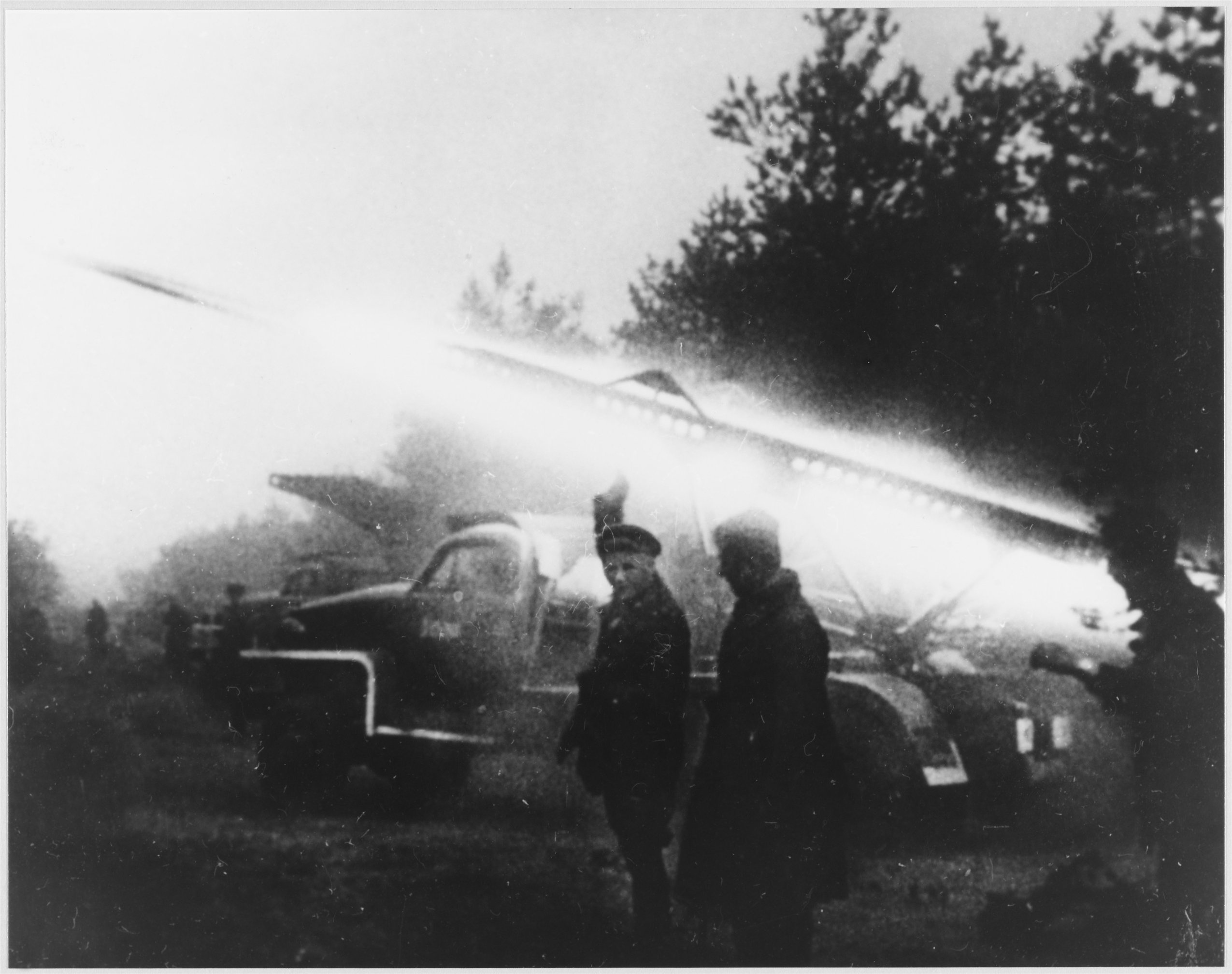 БМ-13 в Белоруссии, 1941 год.
