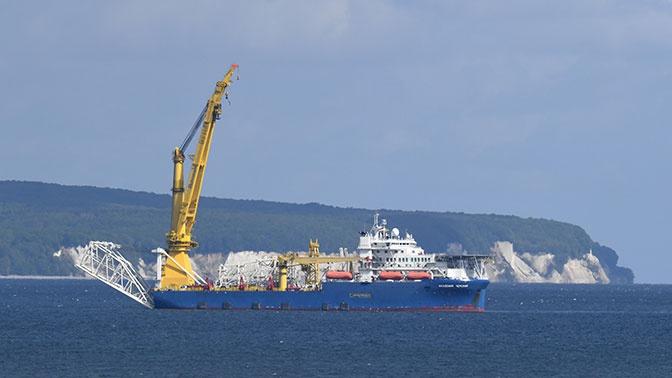 Корабль для достройки «Северного потока - 2» вышел из порта