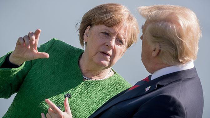 СМИ: Трамп и Меркель «горячо» поспорили из-за «Северного потока-2»