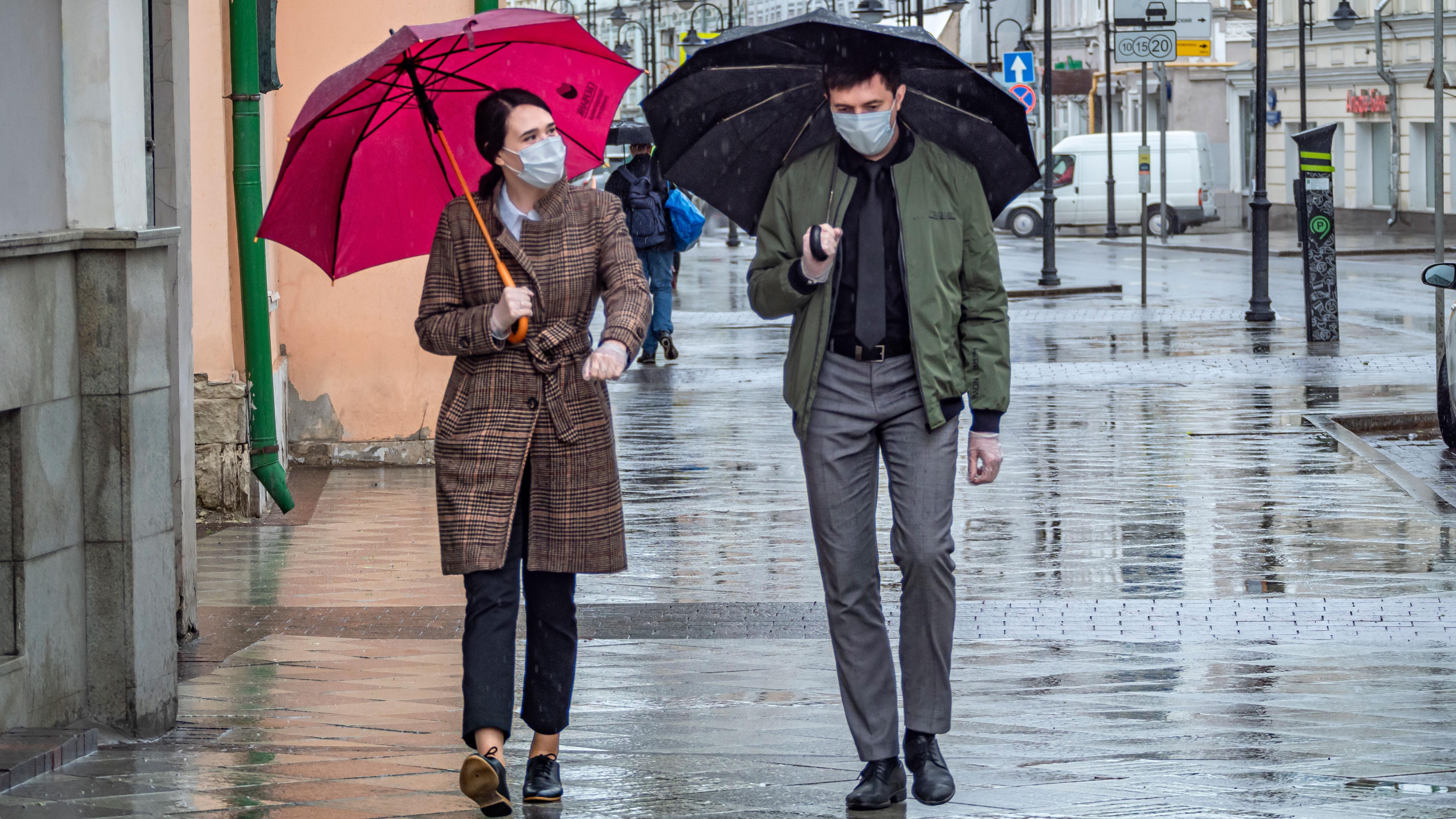 «Желтый» уровень погодной опасности объявили в Москве и Подмосковье из-за дождя