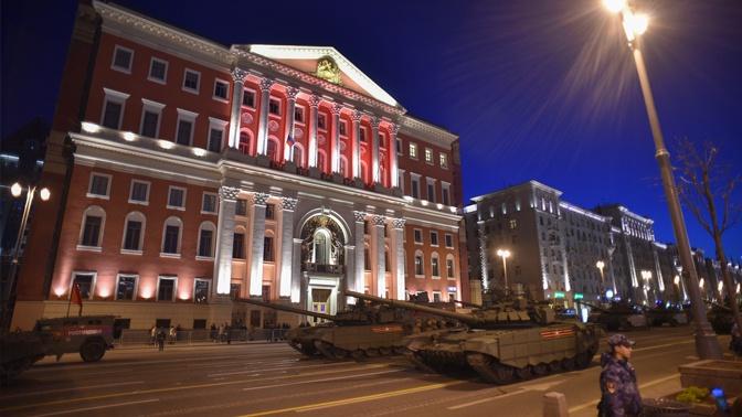 Ночную репетицию Парада Победы перенесли на 14 июня