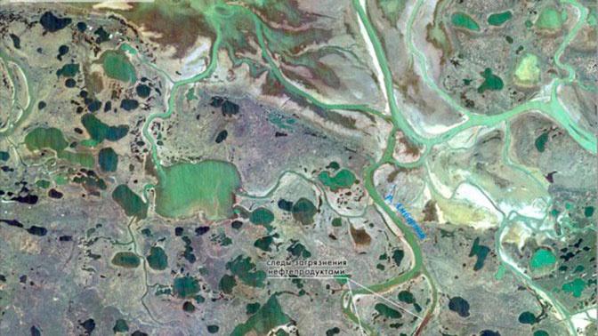 Вид катастрофы из космоса: опубликованы спутниковые снимки с места разлива топлива в Норильске