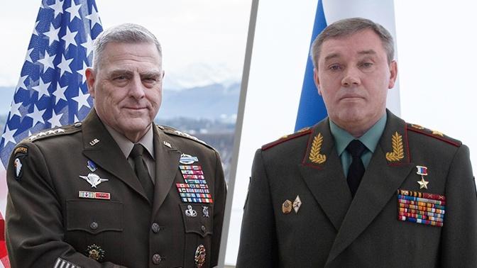 Герасимов провел переговоры с американским генералом Милли