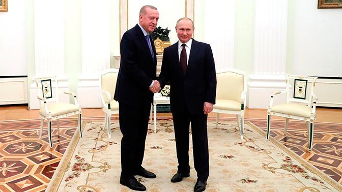 Путин и Эрдоган подтвердили настрой на дальнейшее сотрудничество
