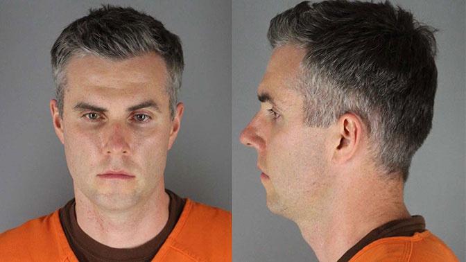 За экс-офицера, причастного к смерти Флойда, внесли $1 миллион залога