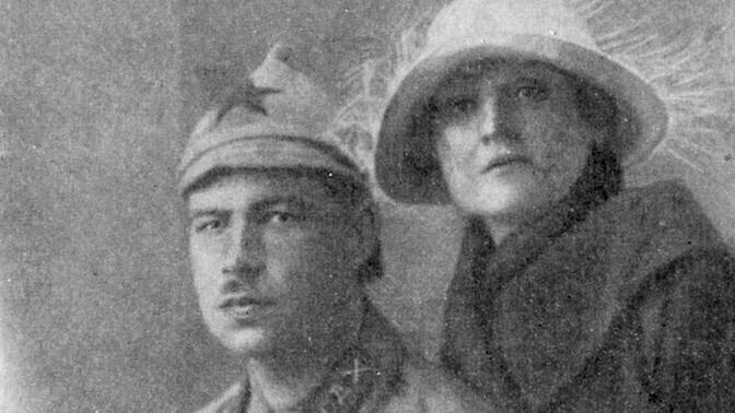 Леонид Александрович Говоров с женой, 1923 год
