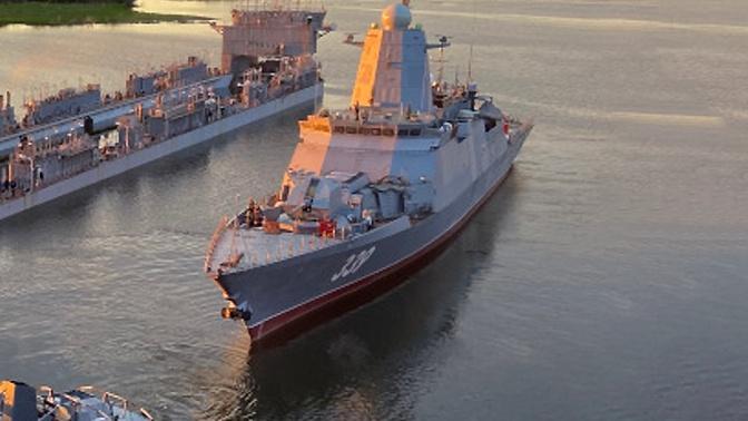 Новейший корвет «Алдар Цыденжапов» во Владивостоке выведен из транспортного дока