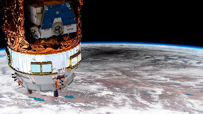 Астронавт с борта МКС сфотографировал тень на Земле от солнечного затмения