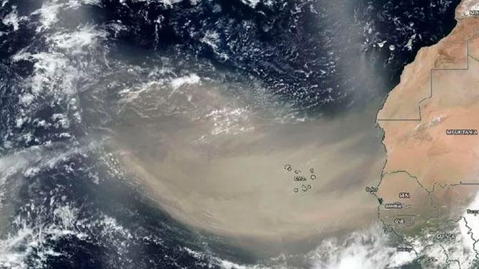 Огромное облако пыли из Сахары пересекло Атлантический океан и попало в Мексику
