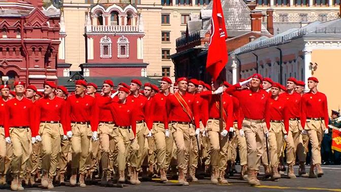 Парадный расчет «Юнармии» прошел по Красной площади