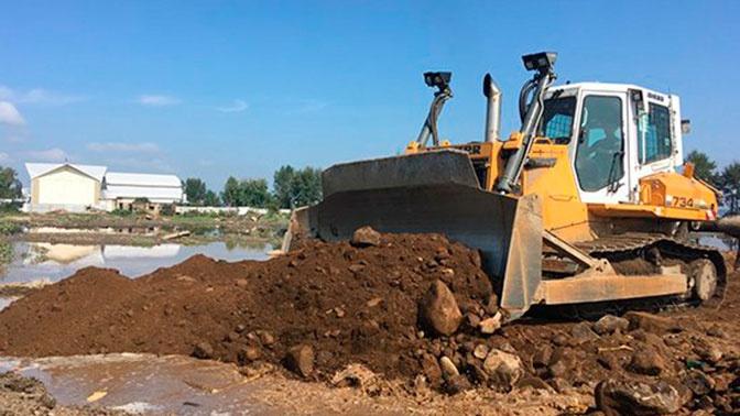 В Тулуне начали строительство основной дамбы
