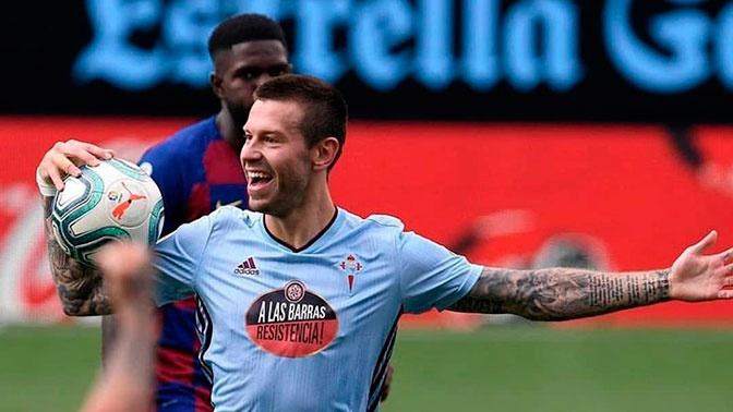 Гол Смолова помог «Сельте» не проиграть «Барселоне»