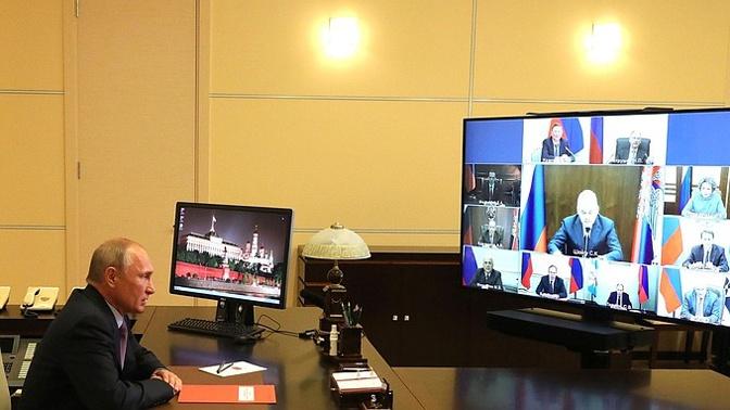 Путин обсудил интеграцию на постсоветском пространстве на заседании СБ РФ