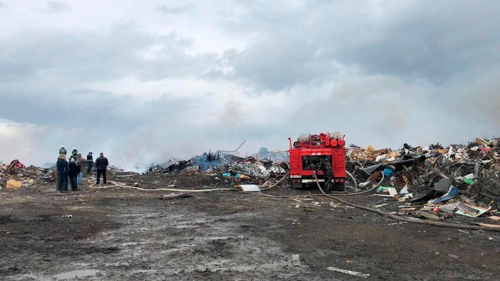 В Норильске загорелся полигон с промышленными отходами