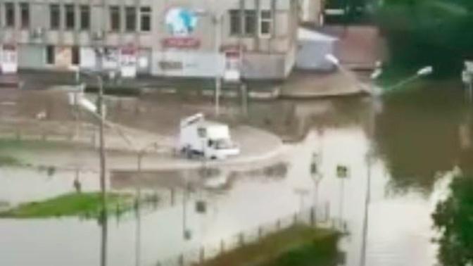 Обрушившиеся на Красноярский край проливные дожди затопили Зеленогорск