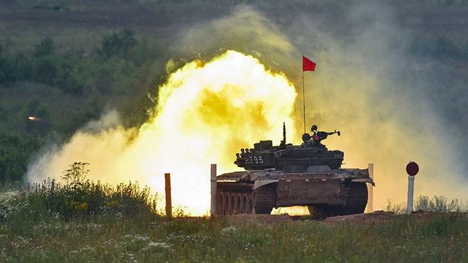 Лучшие танкисты ВС РФ на всероссийском этапе «Танкового биатлона»: фоторепортаж