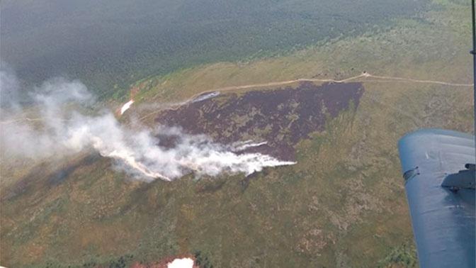 На перевале Дятлова разгорелся крупный пожар