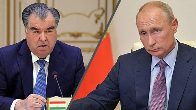 Путин и президент Таджикистана обсудили двустороннее сотрудничество