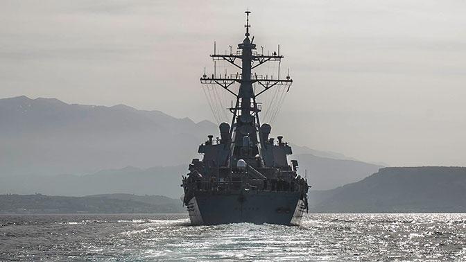 Силы ЧФ приступили к слежению за зашедшим в Черное море эсминцем ВМС США
