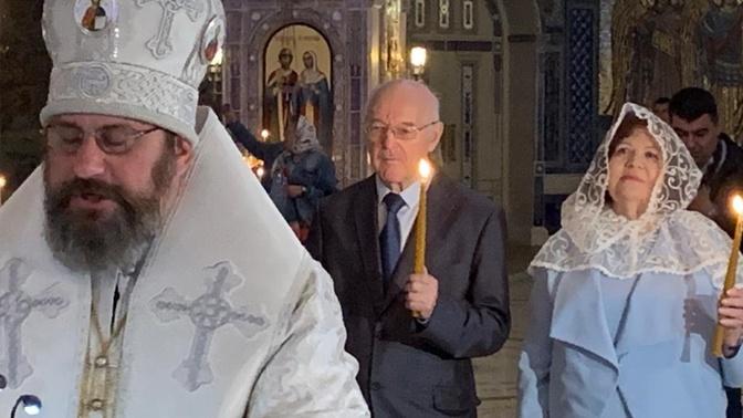 В Главном храме Вооруженных сил РФ прошло первое венчание