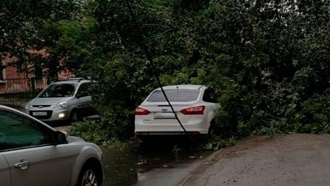 В Самаре ураган повредил десятки автомобилей