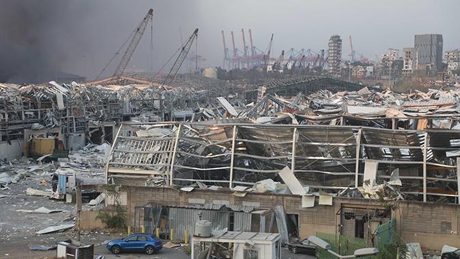 Власти Бейрута оценили ущерб от взрыва в порту
