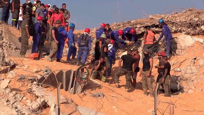 Ювелирная работа: российские спасатели в Бейруте ищут под обломками выживших