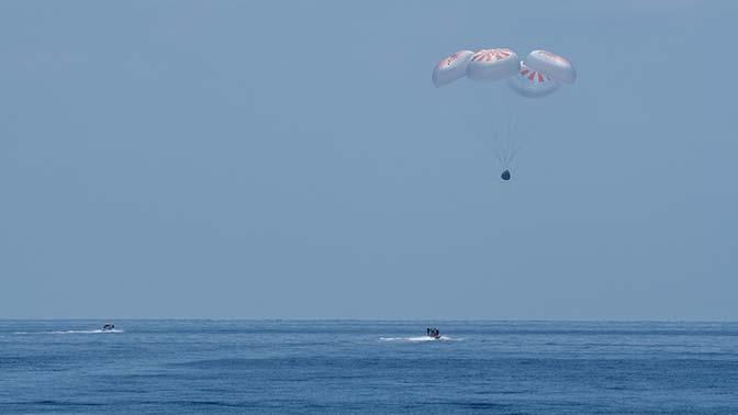 «Не комильфо»: Рогозин раскритиковал посадку корабля Маска на воду