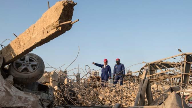 Тела еще двух погибших в Бейруте извлекли из-под завалов спасатели МЧС
