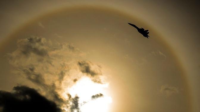 Истребитель Су-27 поднимали на перехват самолетов-разведчиков США над Черным морем
