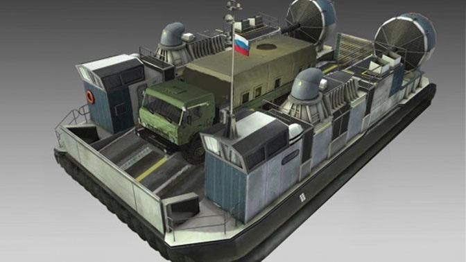Новейший корабль на воздушной подушке «Хаска-10»: премьера концерна «Калашников» на «Армии-2020»