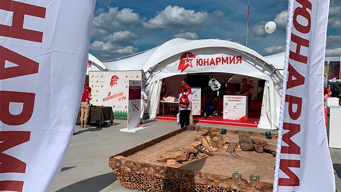 Роман Романенко запустил «Юнармейскую карусель» в рамках открытия форума «Армия»