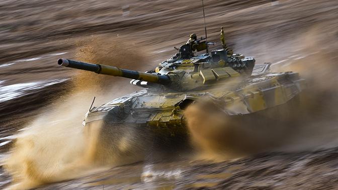 Сборная России показала лучший результат в рамках второго заезда индивидуальной гонки «Танкового биатлона»