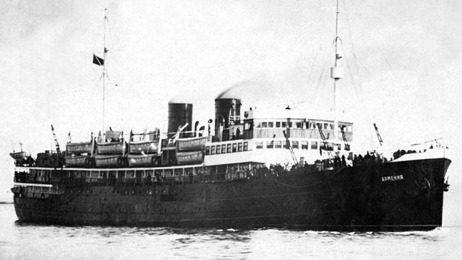РГО организует вторую экспедицию к теплоходу «Армения» - советскому «Титанику»