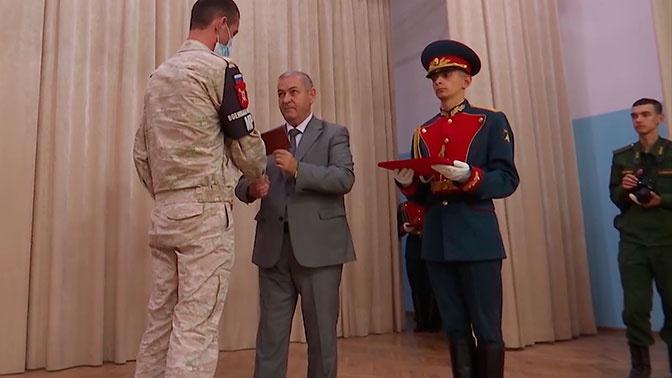 Вернувшийся из Сирии батальон военной полиции встретили на военной базе в Ингушетии