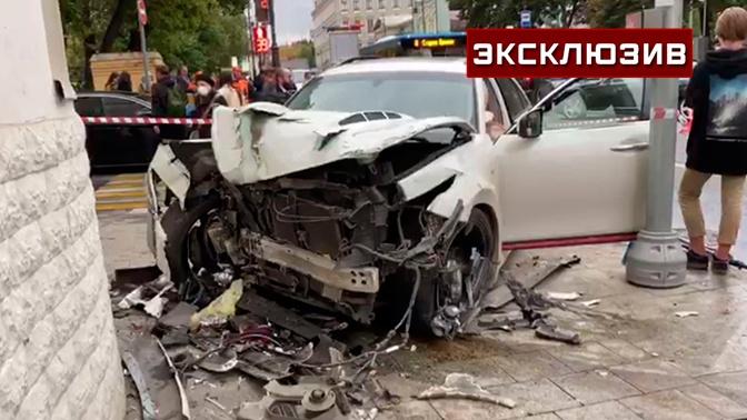 «Около капота лежала пострадавшая»: очевидица рассказала о ДТП в центре Москвы
