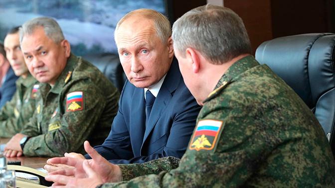 Начальник Генштаба Герасимов рассказал Путину о боевой машине «Терминатор»