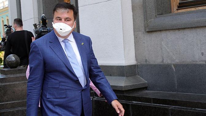 Неизвестный с заточкой напал на Сааккашвили
