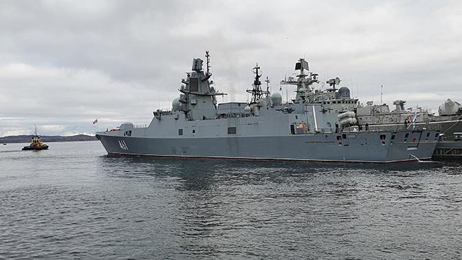 Фрегат «Адмирал флота Касатонов» прибыл в Североморск
