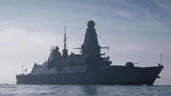 Минобороны РФ: силы ЧФ следят за миноносцем ВМС Великобритании в Черном море