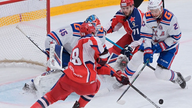 ЦСКА одержал победу над СКА в матче КХЛ