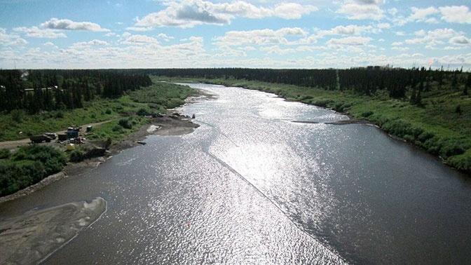 На реке в НАО обнаружили радужную пленку