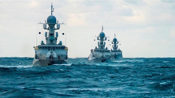 Корабли Каспийской флотилии отразили воздушный удар «противника» в рамках итоговой проверки
