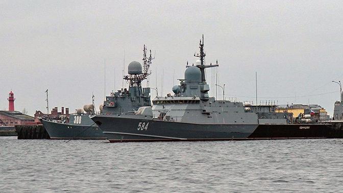 Испытания на Балтике: экипаж МРК «Одинцово» прикрылся от воздушного удара морским «Панцирем»