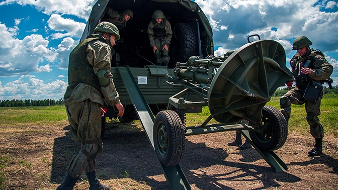 МО РФ получило новую партию модернизированных минометов «Сани»